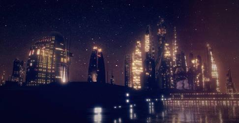 Midnight Skyline by Diston