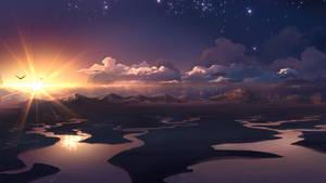 Wideriver sunset by MasterTeacher