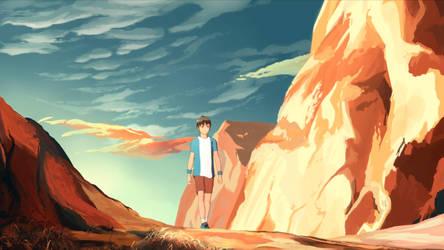 Road to desert by MasterTeacher