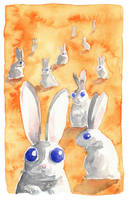 psychedelic rabbits by chmurkabzdurka