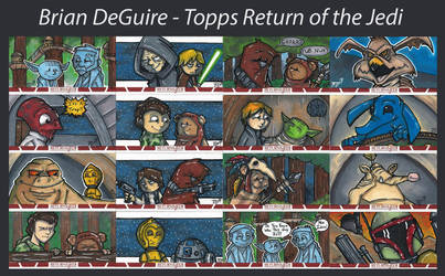 Return of the Jedi Sketch Cards by briandeguireart