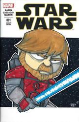 Obi Wan Kenobi Sketch Cover by briandeguireart