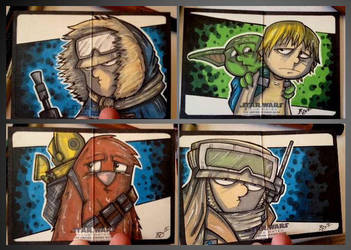 Empire Strikes Back Illustrated - Heroes! by briandeguireart