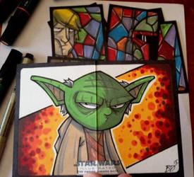 Empire Strikes Back Illustrated - Yoda! by briandeguireart