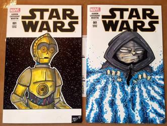 Star Wars Sketch Covers by briandeguireart