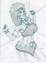 Diana  the Acrobat Sketch by gustorak