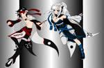 Sora and Runa Shoku Redesign by MikuMikuCheetah