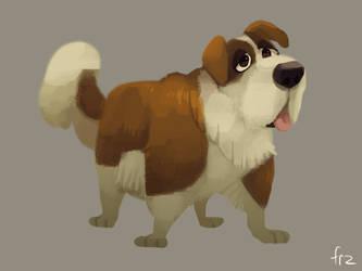 St. Bernard dog by Frozenspots