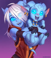 Draecember 1st - Hugging someone by Zeon-in-a-tree