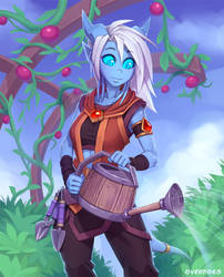 Draecember 3rd - Gardening by Zeon-in-a-tree