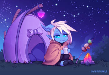 Draecember 6th - Camping by Zeon-in-a-tree