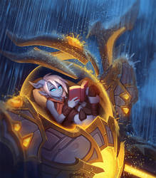 Draecember 11th - Caught in a Storm by Zeon-in-a-tree