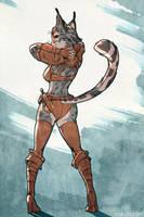 Skyrim - Cat Butt! by nakanoart