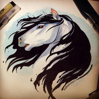 Water Horse by nakanoart