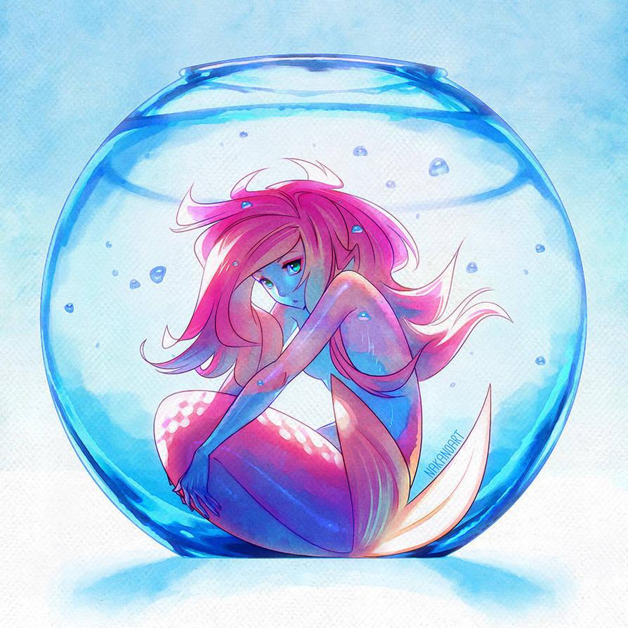 Captive Mermaid by nakanoart
