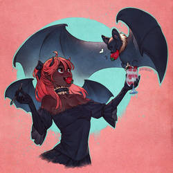 Fruit Bat by nakanoart