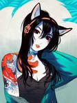 Kitsune Ink by nakanoart