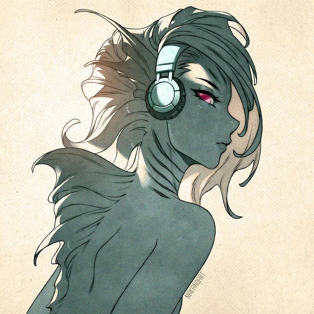 Mermaid Music by nakanoart