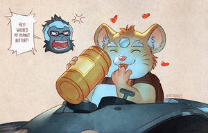 Overwatch - Hammond's Peanut Butter by nakanoart