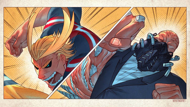 All Might vs All For One by nakanoart