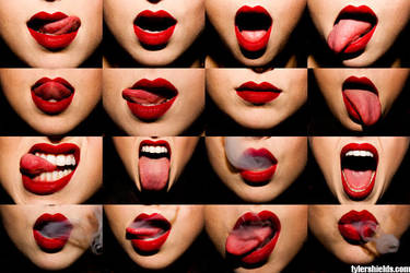 red lips by leehaneul