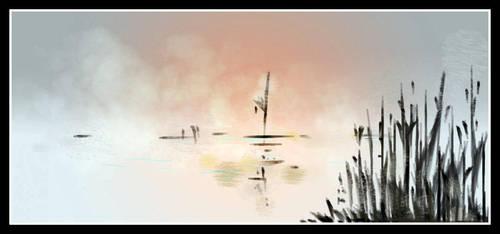 dA muro winter lake sketch by hugitsa