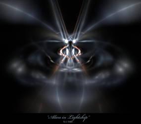 Alien Lightship by jonathandilas