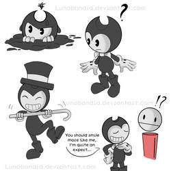 Bendy Doodles by Lunabandid