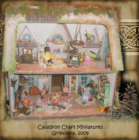 Interior of Mouse Dollhouse by grimdeva