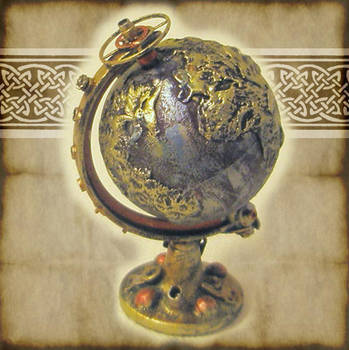 Steampunk Globe Miniature by grimdeva