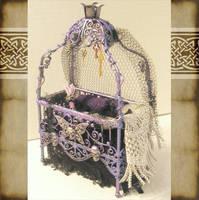 Mini Gothic Baby Bed by grimdeva