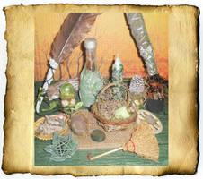 Green Magic Altar by grimdeva