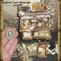 Miniature Egyptologist Desk 1 by grimdeva