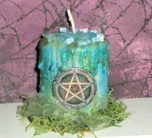 Spirit Pentacle Candle by grimdeva
