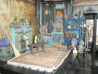 Grimhaunt Manor Miniature Dollhouse bedroom by grimdeva