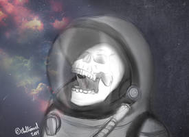 Skull Doodle by ChellizardDraws