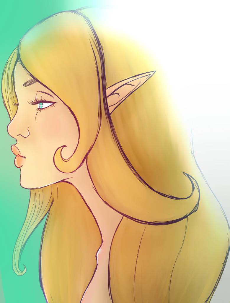 Mirshann Rosin, the Elf Princess by ChellizardDraws