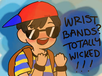 ness and his wristbands by smol-link