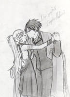 Evangeline and Nagi by EvaAKMcDowell
