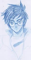 Harry Potter blue by EvaAKMcDowell