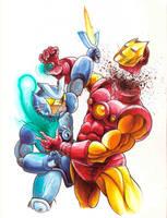 Combatron vs Iron Man by Patikan