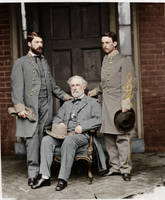 George W. C. Lee, Robert E. Lee, and Walter Taylor by Zuzahin