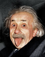 Albert Einstein's tongue photograph by Zuzahin