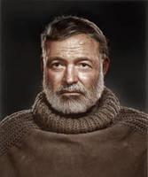 Ernest Hemingway by Zuzahin