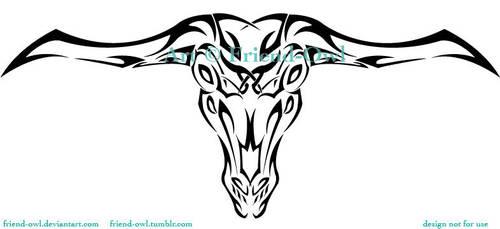 Capra Demon Tattoo by FriendOwlDesign
