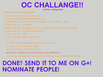 OC CHALLENGE! by tackytuesday