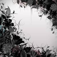 Grunge Flower Frame by ozaidesigns