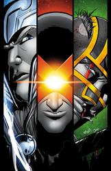 Thor vs Cyclops vs Kick Ass by JoeAzpeytia