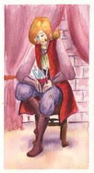 King watercolor by gowa
