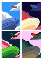 Zeppelins by gowa